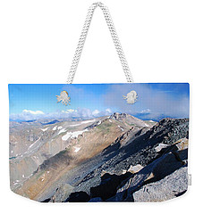 Weekender Tote Bag featuring the photograph From Atop Mount Massive by Cascade Colors