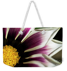 Weekender Tote Bag featuring the photograph From Crimson To White by Wendy Wilton