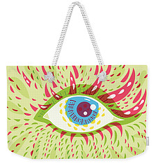 From Looking Psychedelic Eye Weekender Tote Bag