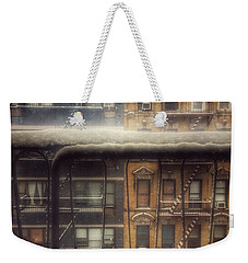 From My Window - A Snowy Day In New York Weekender Tote Bag