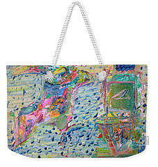 Weekender Tote Bag featuring the painting From The Altered City by Fabrizio Cassetta