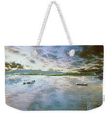 Weekender Tote Bag featuring the photograph From The Causeway by Leigh Kemp