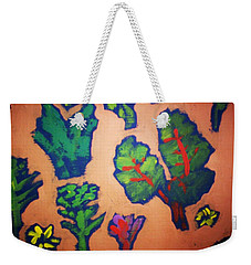 Weekender Tote Bag featuring the painting From The Earth 2 by Winsome Gunning