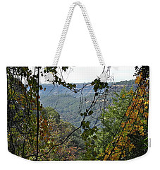 Weekender Tote Bag featuring the photograph From The Edge by Michele Myers