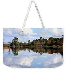 Weekender Tote Bag featuring the photograph From The Lake To The Channel  by Debra Forand