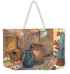 Weekender Tote Bag featuring the painting From This Earth by Marilyn Smith