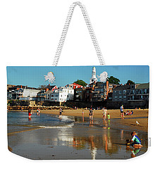 Weekender Tote Bag featuring the photograph Front Beach by James Kirkikis