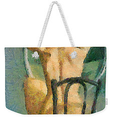 Front Of The Miror Weekender Tote Bag