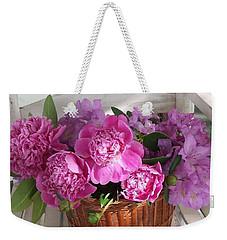 Front Porch Peonies Weekender Tote Bag