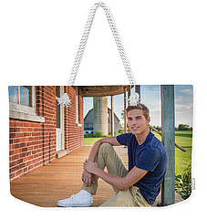 Weekender Tote Bag featuring the photograph Front Porch Portrait by Bill Pevlor