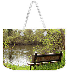 Weekender Tote Bag featuring the photograph Front Row Seat by Art Block Collections