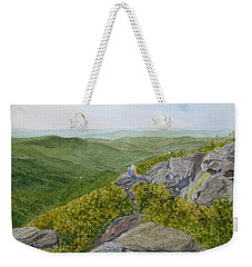 Weekender Tote Bag featuring the painting Front Row Seats by Joel Deutsch