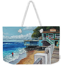 Weekender Tote Bag featuring the painting Front Street Lahaina by Darice Machel McGuire