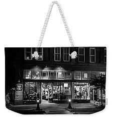 Front Street Crossing In Black And White Weekender Tote Bag
