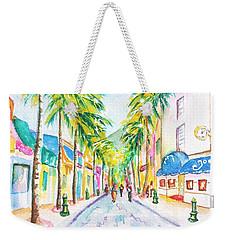 Front Street Philipsburg St. Maarten  Weekender Tote Bag