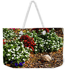 Front Yard Flowers Weekender Tote Bag by Randy Sylvia