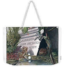 Frontis Of Historia Naturalis Ranarum Nostratium Weekender Tote Bag