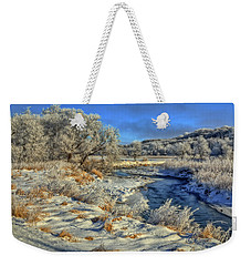 Frost Along The Creek Weekender Tote Bag
