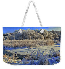 Frost Along The Creek - Panorama Weekender Tote Bag