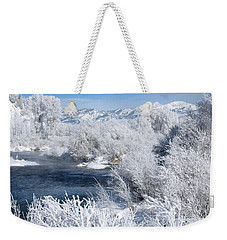 Frost Along The River Weekender Tote Bag