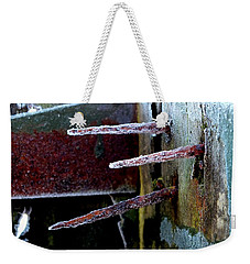 Frost And Rust Weekender Tote Bag