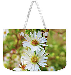 Frost Aster Weekender Tote Bag by Mary Ellen Frazee