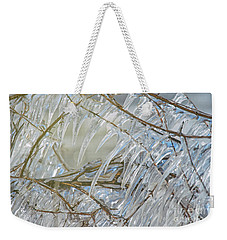 Weekender Tote Bag featuring the photograph Frostbite.. by Nina Stavlund