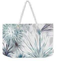 Weekender Tote Bag featuring the digital art Frosted Abstract by Methune Hively