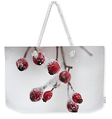 Frosted Berries Weekender Tote Bag