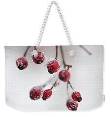Frosted Berries Weekender Tote Bag