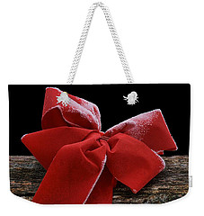 Weekender Tote Bag featuring the photograph Frosted Bow by Nikolyn McDonald