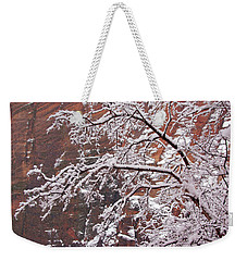 Frosted Branches Weekender Tote Bag