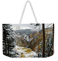 Weekender Tote Bag featuring the photograph Frosted Canyon by Steve Stuller