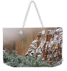 Frosted Cliffs In Zion Weekender Tote Bag by Daniel Woodrum