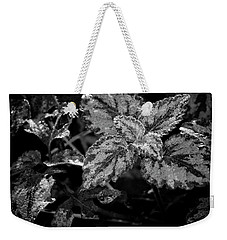Frosted Hosta Weekender Tote Bag