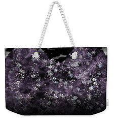 Frosted Purple Mountains Weekender Tote Bag