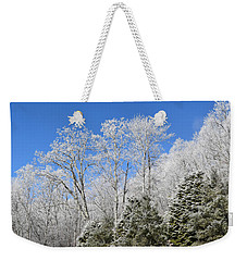 Frosted Trees Blue Sky 1 Weekender Tote Bag