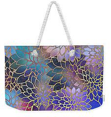 Weekender Tote Bag featuring the digital art Frostwork Fantasy by Klara Acel