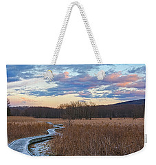 Frosty Blue Trail Weekender Tote Bag by Angelo Marcialis