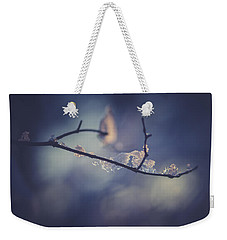 Weekender Tote Bag featuring the photograph Frosty Branch by Shane Holsclaw