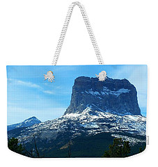 Frosty Chief Mountain Weekender Tote Bag