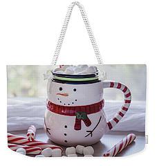 Weekender Tote Bag featuring the photograph Frosty Christmas Mug by Kim Hojnacki