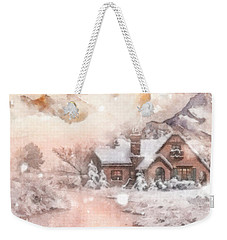 Frosty Creek Weekender Tote Bag by Mo T