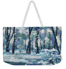 Frosty Day Weekender Tote Bag