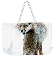 Frosty Fox Weekender Tote Bag