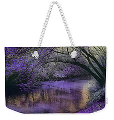 Frosty Lilac Wilderness Weekender Tote Bag