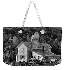 Weekender Tote Bag featuring the photograph Frosty Morning by Denise Romano