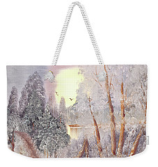 Frosty Morning Weekender Tote Bag