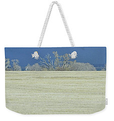 Frosty Morning Landscape Weekender Tote Bag