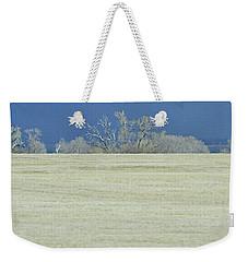 Frosty Morning Landscape Weekender Tote Bag
